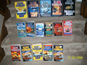Clive Cussler books-more available than in photo