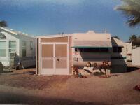 Park Model Trailer in RV Resort in Yuma, Arizona