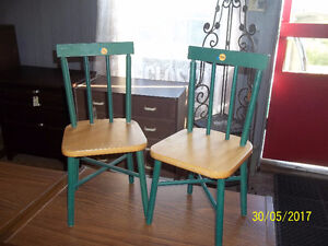 Two Wooden Children's Chairs