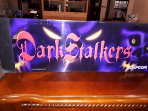 Dark Stalkers Vintage Arcade marquee