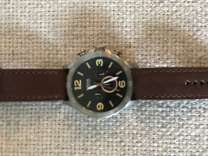 Fossil Watch/Brown Leather - practically new