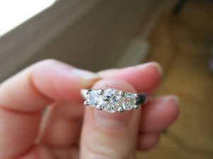 Birks trinity platinum engagement ring