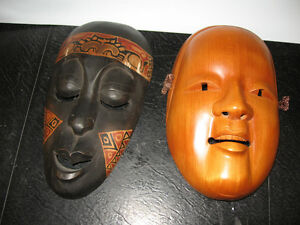 Wooden Hand Carved West Coast Native Masks London Ontario image 1