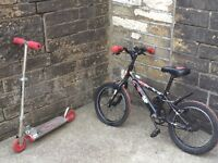 Kids bike and scooter for sale