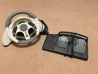 Xbox 360 & Xbox One Steering wheel and pedals