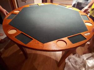 Table de poker pour six personnes