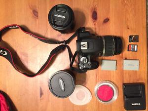 Canon Rebel XS - multiple lenses 18-200mm, 8mm Fisheye, 18-55mm