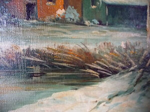 "Antique Early French Artist Paul Welsch ""Paysage d'Hiver"" 1927 Stratford Kitchener Area image 10"