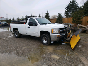 Great diesel plow truck with gas Salter.