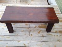 Coffee table 2 1/2 inches thick 50 inches in lenth