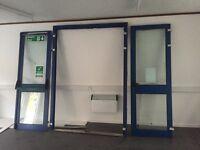 Aluminium double entrance doors