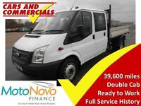 2014 14 FORD TRANSIT TIPPER DOUBLE CAB 350 LWB 1-WAY 125PS (CPD BODY) DIESEL