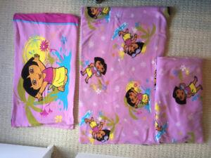 Dora Flannel Sheet Set - Double Size