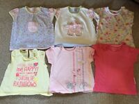 girls 6-9 months t-shirt bundle