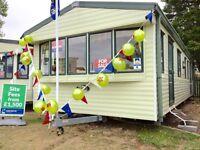 CHEAP large 3 bed FREE 2017 site fees static caravan Clacton Essex Suffolk Kent london