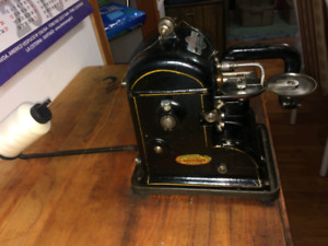 Industrial fur sewing machine.