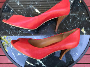 Banana Republic Red Size 11 Peep Toe Heels- Never Worn
