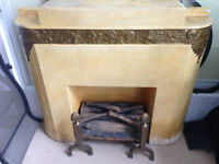 Antique-art-deco, Plaster-of-Paris Fireplace surround-circa 1930
