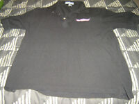 "BRAND NEW MENS LARGE BLACK ""ATHLETIC CLUB"" GOLF SHIRT NEVER WORN"