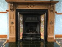 Genuine Victorian fire place with dipped surround