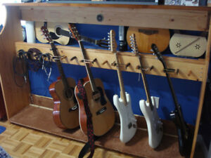AWESOME GUITAR STAND - HAND MADE OUT OF SOLID PINE.  In Legal