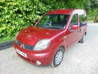 2007 57 RENAULT KANGOO 1.6 EXPRESSION 16V 5D AUTO 94 BHP PETROL IN RED