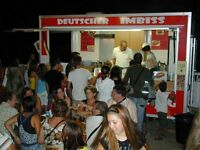 snackbar mobil or on pitch, catering food trailer