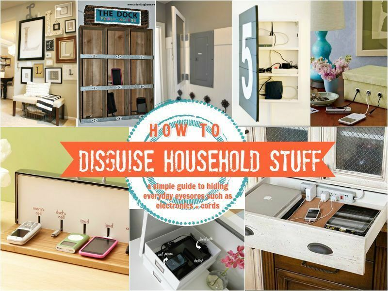 How To Hide Household Eyesores + Clutter