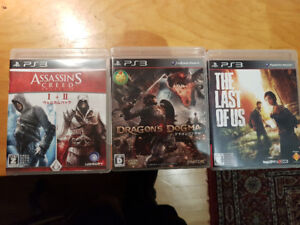 Assassin's Creed + Dragon's Dogma + Last of Us PS3 Version Japon