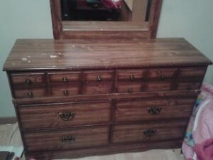 Double Dresser with Mirror - SOLD..pending viewing & pick-up