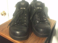 MENS LEATHER STEEL TOE SHOES BOOTS BY CATERPILLAR SIZE13 W