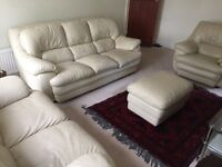 Four pieces Leather Sofa