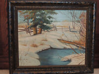Antique Canadian oil painting