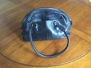 Black Leather Ecco Handbag