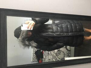 WOMEN'S WINTER COAT 3/4 Faux fur trim hood -Manteau Hiver femme