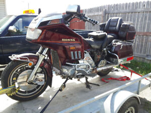 1986 Honda Goldwing 1200 with matching trailer.