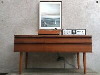 Vintage 1960s Avalon 4 Drawer Sideboard Dressing Table Danish Style