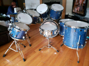 9 piece Ludwig classic birch & Ludwig chrome snare