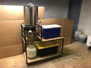 Beer brewing set up - brewing equipment