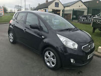 11 KIA VENGA 3 MPV 5 DOOR 31000 MILES 1.4 PETROL FSH IN BLACK VERY CLEAN CAR