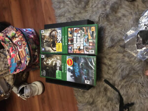 Xbox one plus four games and one controller