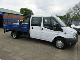 Ford Transit 350 Lwb.. 26,000 Miles .Double Crew Cab Dropside Pick up Tail lift