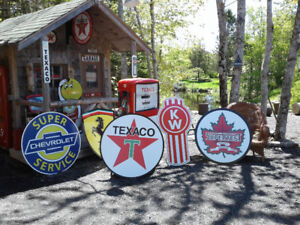 OLD SKOOL SLED ATV AND GASOLINE SIGNS