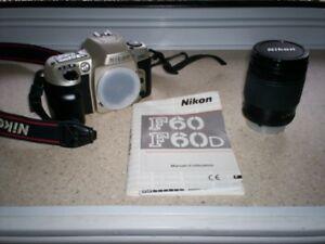 Caméra Nikon F60 avec AF Zoom-Nikkor 28-80mm f/3.5-5.6D
