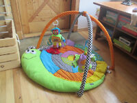 Baby play gym mat and toys