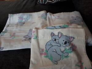 Twin bed flannel sheet set