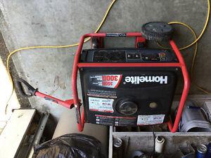 For sale like new 3000 HomeLite generator