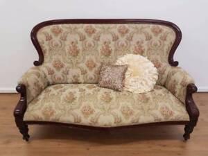 Reduced - Vintage Victorian Gentleman's High Back Lounge Chermside Brisbane North East Preview