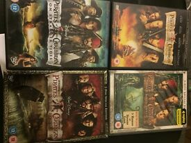 Pirates of the Caribbean 1- 4 DVDs