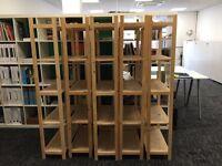 Ikea framed timber shelving units